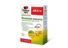 Доппельгерц® актив Фолиевая кислота + Витамины В6+В12+С+Е