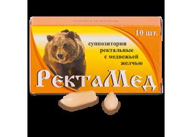 РектаМед суппозитории с желчью медведя. 10шт