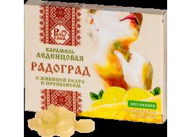 Леденцы с живицей кедра и прополисом (лимон, мед). Без сахара